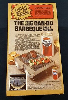 PEPSI The Big Can-Do Barbeque Grill & Smoker. NIB Never Opened. Factory Sealed.