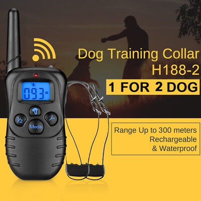 330 Yards Waterproof Rechargeable Remote Pet Chien Training Collier LCD Afficher