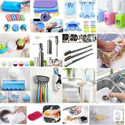 Household Cleaning Tools Clean Brush Sponge Cloth Hook Soap Holder Rack Supplies
