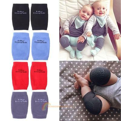 2 Pairs Leg Warmers Baby Crawling Pads Toddlers Kneecap Anti-slip Knee Protector