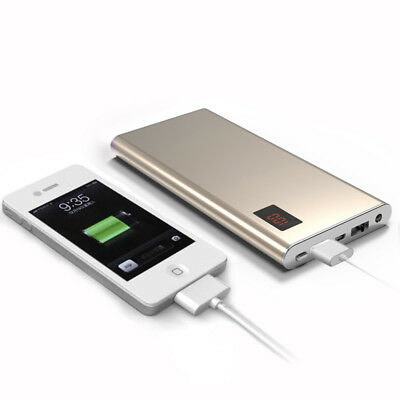 Ultrathin Metal 50000mAh 2USB Power Bank Backup Battery Charger For Mobile Phone