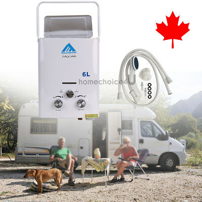 1.6 GPM Instant Portable Propane LP Gas Tankless Hot Water Heater 12KW 6L