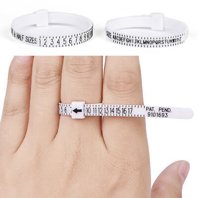 UK US Ring Sizer Measure Finger Gauge For Wedding Ring Band Engagement Ring FT