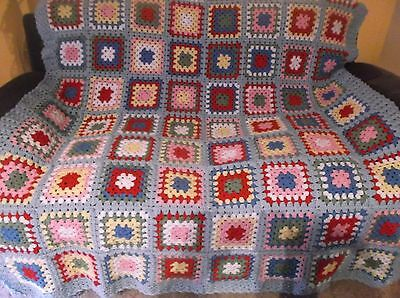 crochet granny blanket/throw # cath kidston inspired granny 6 -array of colours