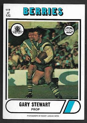 1976 Scanlens Rugby League Trading Cards-119 GARY STEWART CANTERBURY