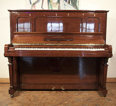 Pre-owned, 1925, Steinway Model K vertegrand upright piano with a walnut case