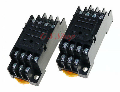 MY2NJ HH52P PYF08ABlack Power Relays Socket Base DIN Rail 8 PIN for   70*21*25mm