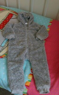Baby Boys all in one snow suit 18-24