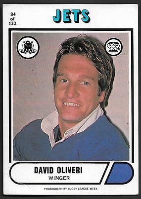 1976 Scanlens Rugby League Trading Cards-84 DAVID OLIVERI NEWTOWN