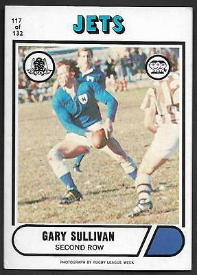 1976 Scanlens Rugby League Trading Cards-117 GARY SULKLIVAN NEWTOWN