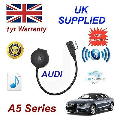 For AUDI A5 Bluetooth & USB Audio Cable for dual operation & Charging gen 3