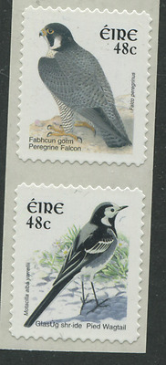 IRELAND birds 2 stamps self adhesive coil  48c Wagtail & Falcon EIRE