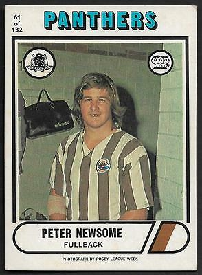 1976 Scanlens Rugby League Trading Cards-61 PETER NEWSOME PENIRTH