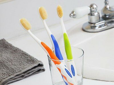 Mouth Watchers Antimicrobial Toothbrush with Flossing Bristles