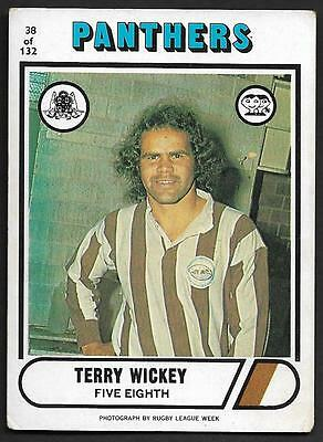 1976 Scanlens Rugby League Trading Cards-38 TERRY WICKEY PENIRTH