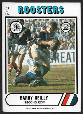 1976 Scanlens Rugby League Trading Cards-25 BARRY REILLY SUBURBS