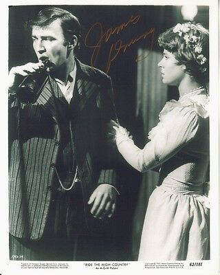 JAMES DRURY signed RIDE THE HIGH COUNTRY 8x10 w/ coa MARIETTE HARTLEY WEDDING