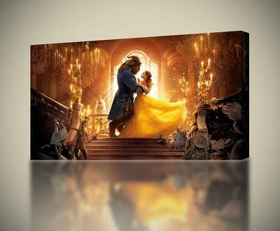 BEAUTY /& THE BEAST DISNEY/'S WONDERFULLY ICONIC CANVAS PRINT PICTURE ArtWilliams