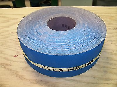 "Premium  Zirc,  X-Weight, Sancap,  Sanding  Roll  3"" X 50-Yard"",  100-Grit"
