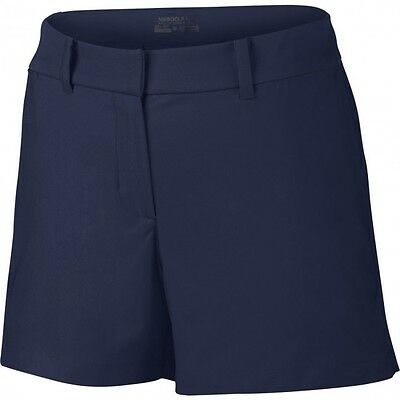 Wmn's NIKE GOLF Tournament Shorts - Size UK 12 / USA 8 - Navy - 725771-410