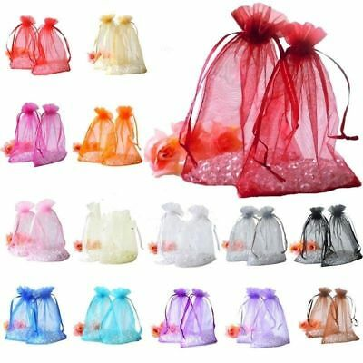 Organza Pouches Wedding Favours Gift Bags Packing Sheer Jewelry Candy Bags Lot