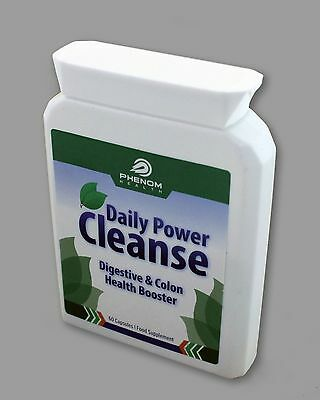 Phenom Health Daily Power Cleanse Digestive & Colon Health Booster 60 Capsules