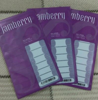 Brand New - Jamberry Wraps – White Pink Tint Tip - RRP $66.00 (3)