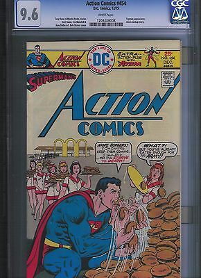 Action Comics # 454 CGC 9.6  White Pages. UnRestored.