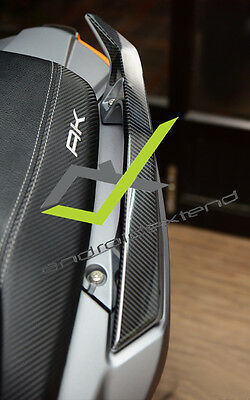 Kymco Ak550  Sporty Armrests Carbon Decals
