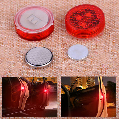 2xUniversal Wireless Car Door LED Opened Warning Flash Light Kit Anti-collid New
