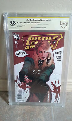 Justice League of America #6 Adam Hughes Black Canary Variant 9.8 CBCS (Not CGC)