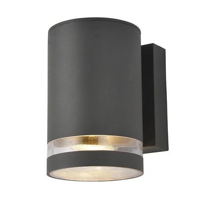 Outdoor Single Wall Light Dark Grey Modern Garden Porch, Patio Light Litecraft