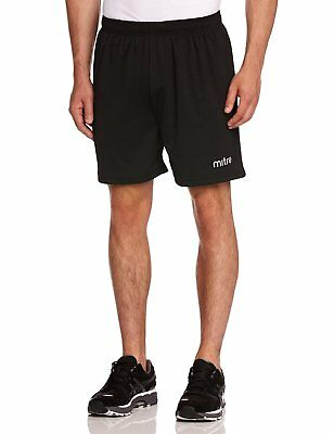 Mitre T50101 Metric Football Men's Shorts, Black - S waist 30-32