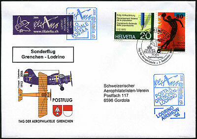 Switzerland 2006 Special Flight Cover #C43548