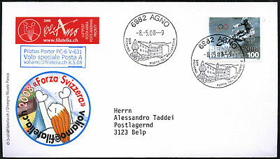Switzerland 2008 Special Flight Cover #C43524