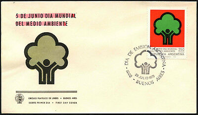 Argentina 1979 Ecology Day FDC First Day Cover #C43438