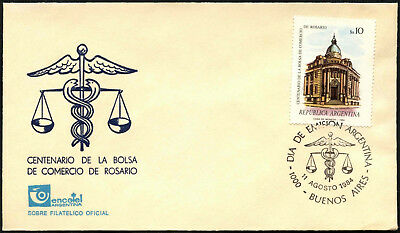 Argentina 1984 Rosario Stock Exchange FDC First Day Cover #C43443