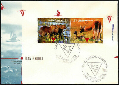 Argentina 1996 Endangerered Species FDC First Day Cover #C43441