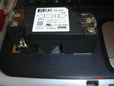 COSEL, EAC-20-472,  NOISE FILTER, 20A, 250 V AC/DC, 150 kHz - 1 MHz.