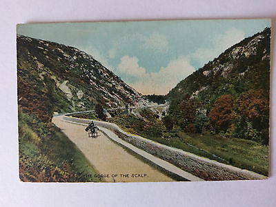 The Gorge of the Scalp Co Wicklow Vintage B&W postcard c1920s
