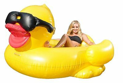 Giant Inflatable Derby Duck with Air Pump Pool Family Fun GAME new