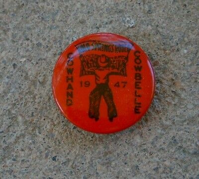 Vintage 1947 COLORADO SPRINGS RODEO Cowhand Cowbelles PIN-BACK BUTTON 7/8""