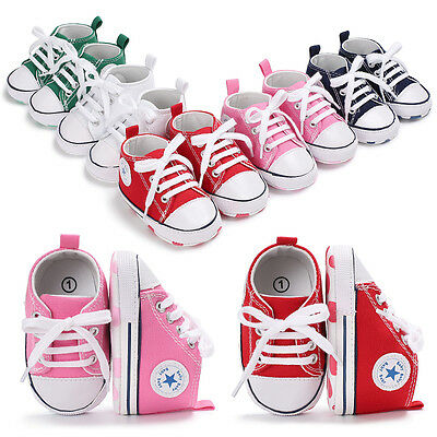 0-18 Months Baby Boy Girl Crib Shoes Infant Sneakers Toddler PreWalker Trainers