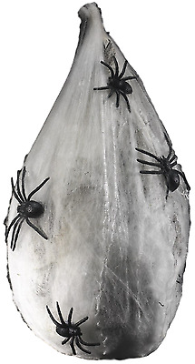 Halloween Animated Hanging Spider & Web Glow In The Dark Party Decoration Prop
