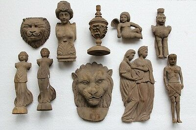 Beautiful Selection Of Hand Carved Wood Figures