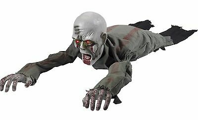 Halloween Animated Crawling Zombie With Light Up Eyes Party Decoration Prop