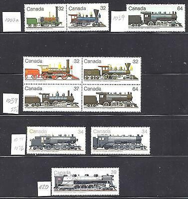 Canada  LOCOMOTIVE, SELECTION FROM SETS 1, 2, 3 & 4 VF MNH (BS9677-2) A