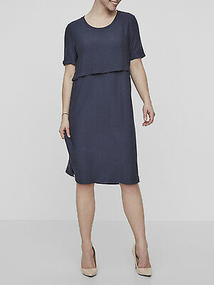 BNWT Mamalicious Jersey Nursing dress Navy Breastfeeding Sizes 10 - 16 £32