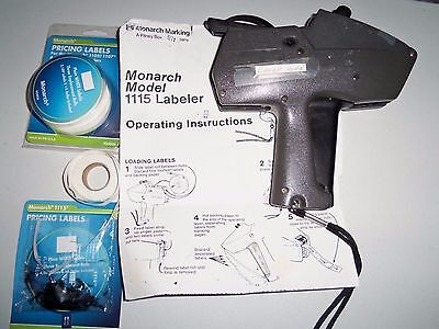 Monarch 1115 Label Pricing Gun With Extras