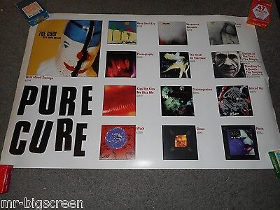 """The Cure - Double-Sided 20"""" X 30"""" On Tour Poster"""